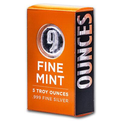 5 oz Silver Bar - 9Fine Mint - SKU# 156273 2