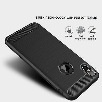 For iPhone XR X XS Max 7 8 Plus 8+ Heavy Duty Shockproof Tough Rubber Case Cover 6