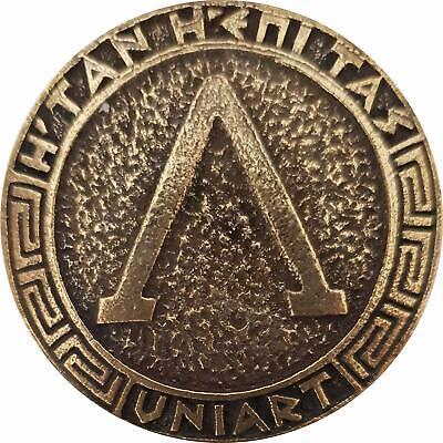 Key Ring Ancient Spartan Battle Helmet Coin Shield Keychain Leonidas Movie 300 R 4