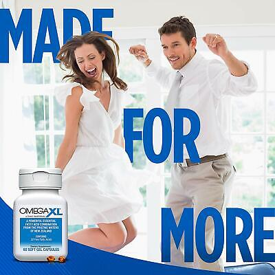 Omega XL 60ct by Great HealthWorks: Small, Potent, Joint Pain Relief - Omega-3 9