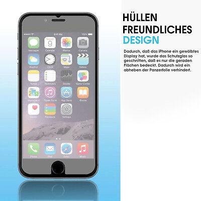 iPhone Xs Max 5s 6s 7 8 Plus 3D Panzerglasfolie Display Schutzfolie klar WOW ✅ 3