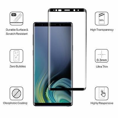 Vitre Film Protection Écran Verre Trempé Intégral 3D Samsung Note 9 8 S8 S9 S10 3
