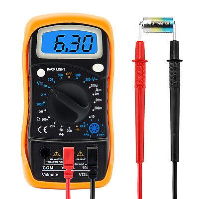 Digital Voltmeter Ammeter Ohmmeter Multimeter Volt AC DC Tester Meter US Seller 4