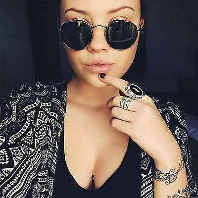 2a4f9b7bd3 ... Round Oval Style Men Women Sunglasses Metal Frame Small Lens Fashion  Shades 5