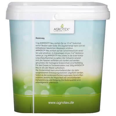AMMOVIT NEU 5 kg, ökologischer Sanitärzusatz, Geruchs- und Fäkalienbehandlung 3