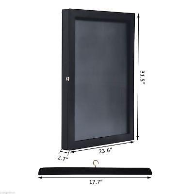 "31.5"" Hockey Jersey Display Case Frame Shadow Box Football Baseball Black Wood 2"