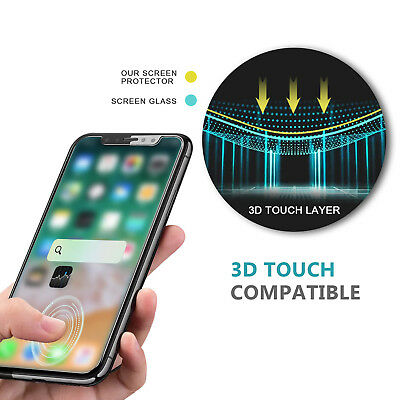 Premium Front & Back Tempered Glass Screen Protector iPhone X XS XR Max 7 8 Plus 4