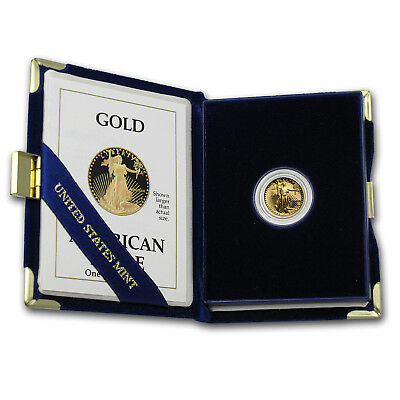1/10 oz Proof Gold American Eagle (Random Year, w/Box & COA) - SKU #59207 3