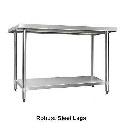 430 Stainless Steel Bench Table Commercial Home Kitchen Work Food Grade Shelf 4
