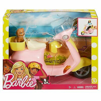 Barbie FRP56 Moped Pink Scooter for Doll with Puppy & Accessories Toy 5