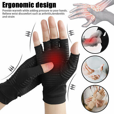 Copper Compression Gloves Arthritis Fit Carpal Tunnel Hand Wrist Brace Support 4