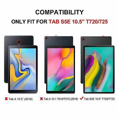 Samsung Galaxy Tab S5e T720 T725 Case Slim Smart Folio Leather Sleep Awake Cover 6