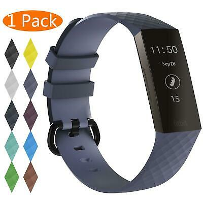 For OEM Fitbit Charge 3 Replacement Wrist Band Silicone Bracelet Watch Rate Fit 10