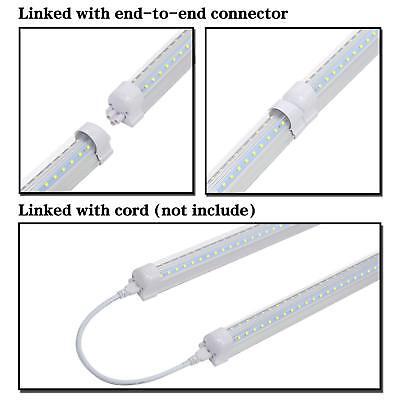 25-Pack JESLED 8FT LED Tube Light 72W 7800LM 6500K T8 Integrated LED Shop Lights 8