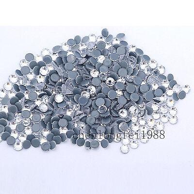 Cristal AB hierro en Hotfix Rhinestones calientes blanco Flatback piedras Strass 2