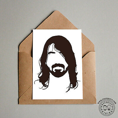 FOO FIGHTERS Minimalist Hair Poster Silhouette Music Heads Minimal Grohl Heads