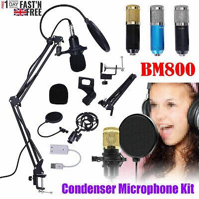 BM800 Condenser Microphone Professional Studio Vocal Recording Mic Stand Kit 2