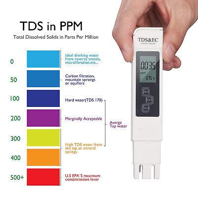 3in1 TDS & EC Meter + pH Tester Digital LCD Temperature Water Quality Purity Pen 7