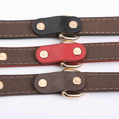 PU Personalized Dog Collars Name ID Collar with Nameplate Engraved XS-XL 11