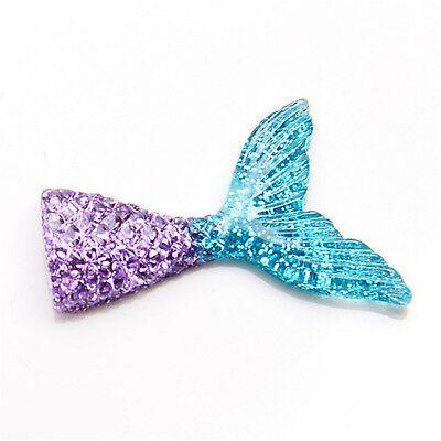 10pcs/lot kawaii resin mermaid tail DIY flatback resin cabochons accessories 10