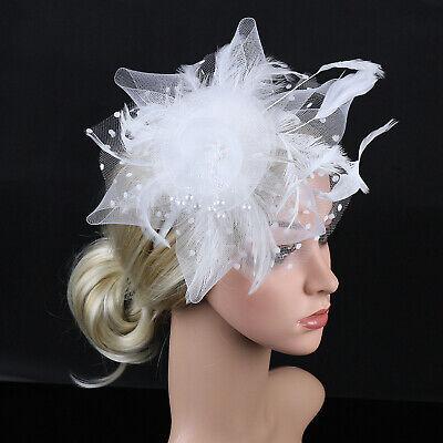 Ladies' Day Fascinator Hat Cocktail Tea Party Headband Women Wedding Hair Clip 3