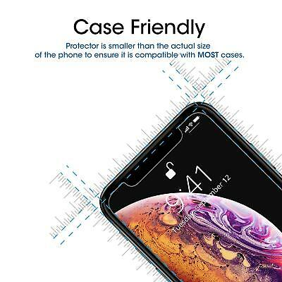 Tempered Glass Screen Protector For Apple iPhone X XS Max XR 8 7 5S SE 6 6S Plus 2