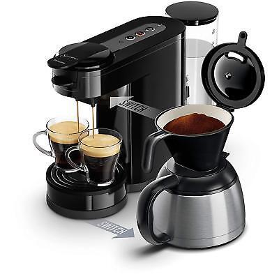 Senseo HD7892/60 Machine à Café de 2 en 1 Capsules Moulu ou 1450 W 2