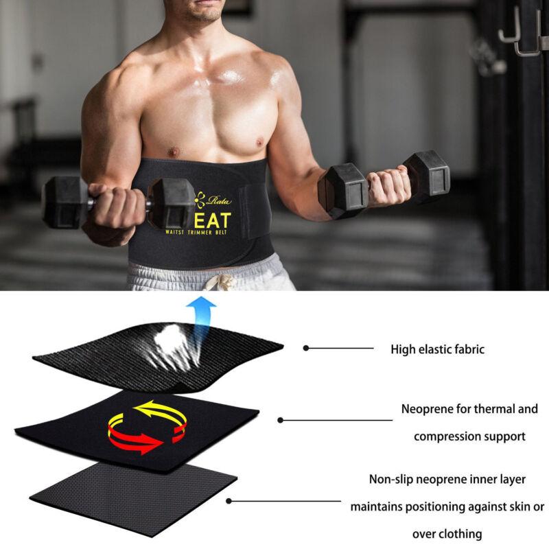 Hot Men's Neoprene Sauna Shapewear Sweat Belt Waist Cincher Trainer Body Shaper 4