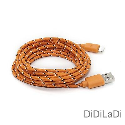 1/2/3M Braided Lightning USB Charger Data Sync Cable For iPhone 6 7 8 Plus X XR 11