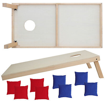 Unfinished Solid Wood Bean Bag Toss Cornhole Board Game Set  Size 4x2' 4