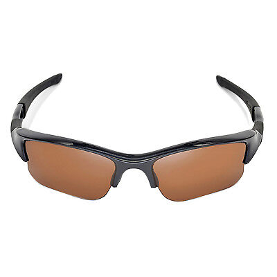 6daaf8cee1 ... New Walleva Polarized Brown Replacement Lenses For Oakley Flak Jacket  XLJ 6
