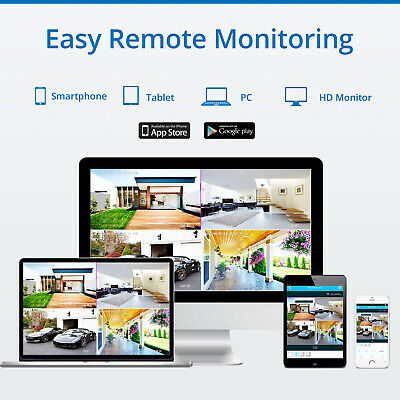 SANNCE Wireless 8CH NVR 1080P Video Outdoor WIFI 2MP Camera CCTV Security System 10