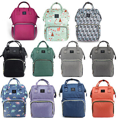 LAND Maternity Nappy Baby Diaper Bag Capacity Mommy Bag Travel Backpack w/ Hooks 2