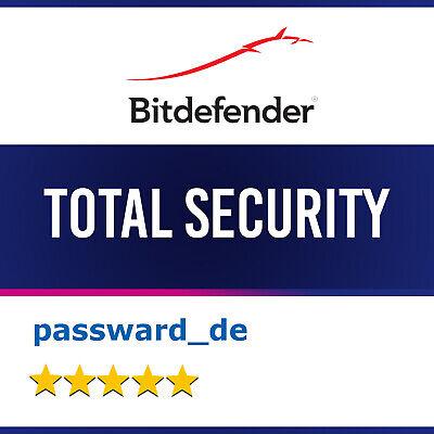 Bitdefender Total Security 2020 (1-10 PC / Geräte) 1, 2 und 3 Jahre 2