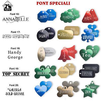 Medaglietta per cani e gatti + incisione personalizzata gratis + anellino 10