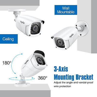 SANNCE 1080P HDMI 8CH DVR 2.0MP 3000TVL Home Security Camera System Night Vision 12