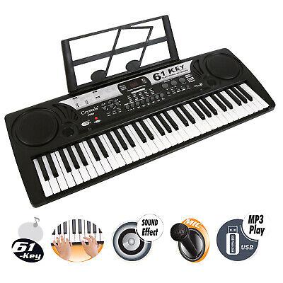 61 Key Electronic Keyboard Digital Piano MP3 Music Instrument Microphone UK Plug 7
