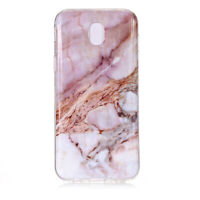 Hybrid Soft TPU Silicone Marble Pattern Case Cover For Samsung Galaxy J3 J5 J7 10