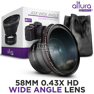 Altura Photo® 58MM .43x Wide Angle Lens with Macro for Canon DSLR Cameras 4
