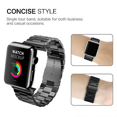 For iWatch Apple Watch Series 5/4 44mm Stainless Steel Band Strap Bracelet 7
