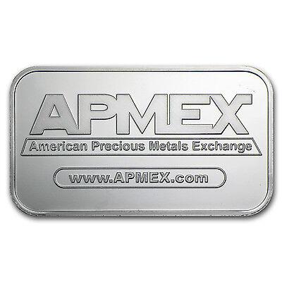 1 oz APMEX Silver Bar .999 Fine Lot of 10 - SKU #81774 3