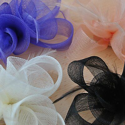 Ivory Black Purple Nude Fascinator Hair Accessories Wedding Ascot Prom Party New 4