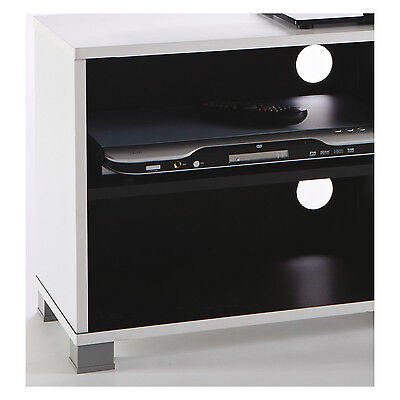 tv regal grafit 218 schwarz wei tv bank hifi rack tv schrank fernsehschrank neu eur 48 90. Black Bedroom Furniture Sets. Home Design Ideas