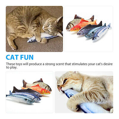 5 Pack Realistic Interactive Fish Cat Kicker Crazy Pet Toy Catnip Toys Gift 3