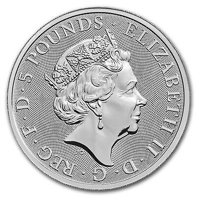 2018 Great Britain 2 oz Silver Queen's Beasts The Unicorn - SKU #152535 2