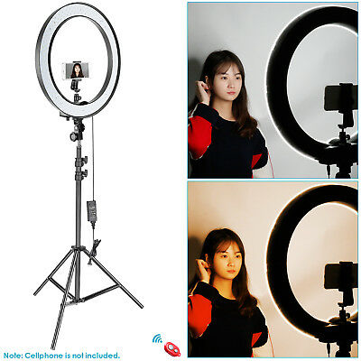 Neewer 18-inch Outer Dimmable SMD LED Ring Light Lighting Kit with Light Stand 3