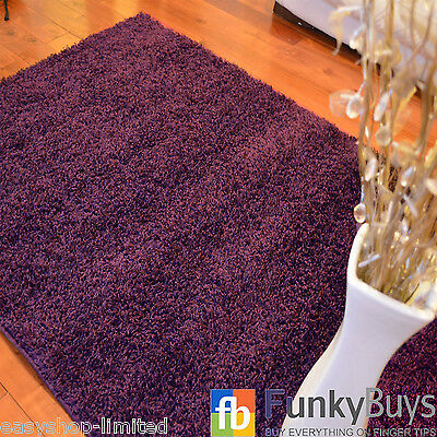 Small Large XL Size Thick Plain Soft Shaggy Rugs Non Shed Modern High Pile 7