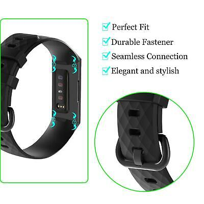 For OEM Fitbit Charge 3 Replacement Wrist Band Silicone Bracelet Watch Rate Fit 2