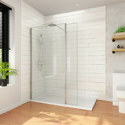 Walk In Shower With Flipper Panel.Wet Room Shower Screen And 300mm Flipper Panel Walk In