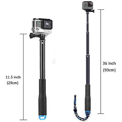Selfie Pole Extendable Telescopic Monopod Stick for GoPro Hero 5 4 3+ 3 2 Camera 6